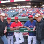 Bellamy Brothers perform at Rangers' game in Arlington, TX